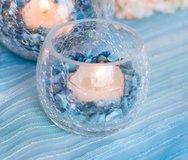 Wedding or Party Crackle Glass Clear Candle Holders/Votives in Bartlett, Illinois