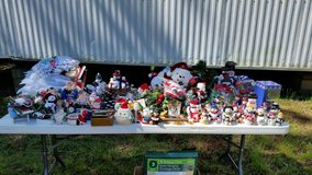Christmas lot - lots of snowmen. in Perry, Georgia