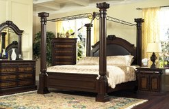 4 Poster Bedset Empire - Queen Size - monthly payments possible - see VERY IMPORTANT below in Spangdahlem, Germany