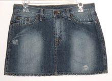 Divided Distressed Denim Jean Mini Skirt Womens Size 8 in Morris, Illinois