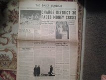 """Vintage """"The Daily Journal"""" Newspaper From DuPage County Dated Tuesday, March 31, 1964 in Glendale Heights, Illinois"""