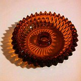 Vintage Amber Glass Ashtray / Lead Crystal - Heavy in Fort Bragg, North Carolina