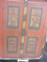 Antique cabinet with hand painting. Its 170 years old. in Ansbach, Germany
