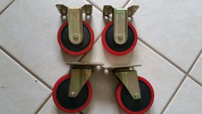 """2 swivel and 2 straight 5"""" casters *PRICE REDUCED * in Warner Robins, Georgia"""