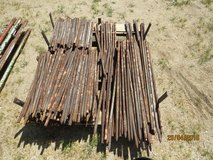 Metal stakes in Yucca Valley, California
