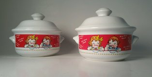 NEW Two (2) Campbells Soup Kid's Collectable Soup Bowls with Lids M'm! M'm! Good in Morris, Illinois