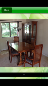 China Cabinet and dining table and 8 chairs in Plainfield, Illinois