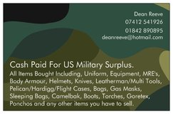 Cash paid for unwanted US military Gear. in Lakenheath, UK