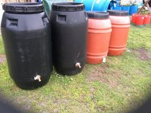 Complete rain barrels in Camp Lejeune, North Carolina