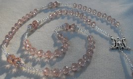 Lasso Wedding Rosary Czech Crystal and Silver Champagne Unique in Kingwood, Texas