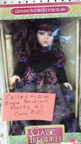 Pretty Porcelain doll in box in Yucca Valley, California