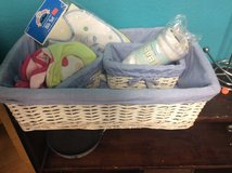 Three baskets for babies room with new stuff in it in 29 Palms, California