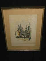 Jan Korthals St. Paul's Cathedral London Signed Watercolor print in Bolingbrook, Illinois