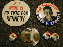 Kennedy Political Pins in Orland Park, Illinois