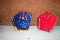 JR. SPORTS LEFT HANDED GLOVES & FOOTBALL STAND in Aurora, Illinois
