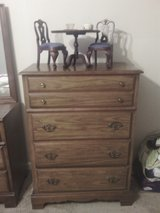 Bassett 4 Drawer Maple Dresser With Mirror By Bassett 3 Piece Bedroom Dresser Mirror Chst oF Dra... in Kingwood, Texas