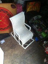 Child's wicker chair in Moody AFB, Georgia