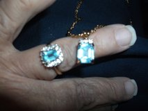 BLUE TOPAZ RING AND NECKLACE in Alamogordo, New Mexico