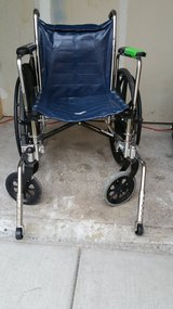 Heavy Duty Wheelchair w/ anti flipping stand in Fort Lewis, Washington