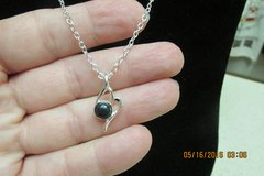 Black Onyx Silver Chain Necklace - Never Worn - REDUCED! in Houston, Texas