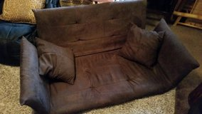 Brown / Microfiber Folding Floor Couch / Bed in Fort Campbell, Kentucky