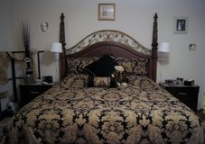 13-pc PAISLEY BROCADE KING SIZE BEDSPREAD SET in Lakenheath, UK
