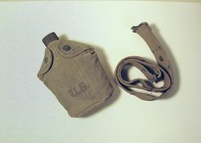 WWII genuine army canteen and belt in St. Charles, Illinois