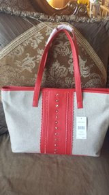 Nine West red/beige new tote purse in Lockport, Illinois