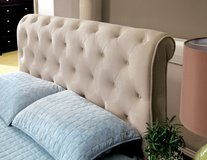 VELVET TUFTED QUEEN BED FREE DELIVERY in Camp Pendleton, California