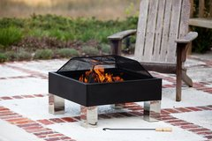 NEW never used Square Fire Pit and BBQ in Ramstein, Germany