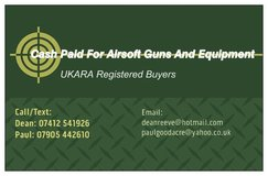 Cash Paid For All Airsoft Guns and Equipment. UKARA Registered Buyers. in Lakenheath, UK