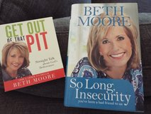 Beth Moore Book and Audio Book (So Long Insecurity, Get Out Of That Pit) in Camp Lejeune, North Carolina