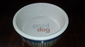 Signature Strip Good Dog Ceramic Bowl - Large in The Woodlands, Texas