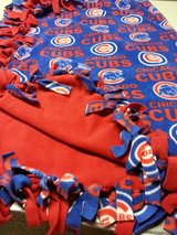 Fleece tied baseball throw blanket in Tinley Park, Illinois