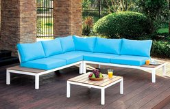 BLUE PATIO SECTIONAL FREE DELIVERY in Camp Pendleton, California