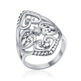 ***BRAND NEW***Elegant Silver Cz Filigree Hearts Stainless Steel Ring***SZ 7 in The Woodlands, Texas