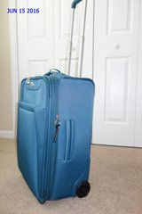 American Tourister Carry On Suitcase with Wheels and Retractable Handle (Lt Blue) in Cherry Point, North Carolina