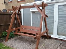 3 seater wooden garden swing HANDMADE in Lakenheath, UK