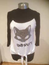 White & Black Kitty Top in Ramstein, Germany