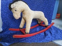 Antique, Mohair child's Riding Horse with Wooden Rockers in Chicago, Illinois