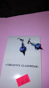 Handmade glass earrings in Yucca Valley, California