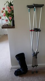 Adult Crutches and Boot in St. Charles, Illinois