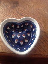 Polish Pottery Heart in Fort Campbell, Kentucky