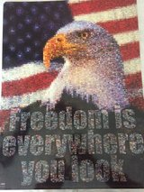 Eagle Poster: Freedom is Everywhere You Look in Camp Lejeune, North Carolina
