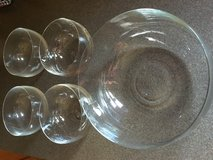 Crystal Salad serving bowl and 4 small bowls in Chicago, Illinois