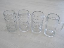 Set of REAL giant glass German Beer steins  (Masskruege) in Ansbach, Germany