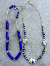 Blue Glass Beaded Necklaces in Lockport, Illinois