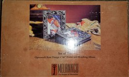 """Melannco Set of Two Open Rosework Design 4x6"""" Frame and Matching Album in Fort Riley, Kansas"""