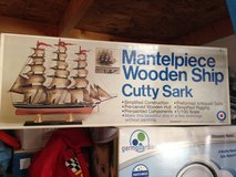 Mantelpiece Wooden Ship - Updated Lower Price in Bolingbrook, Illinois