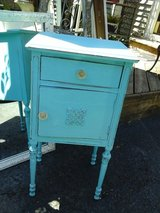 Shabby chic vintage turquoise table /  nite stand in Naperville, Illinois